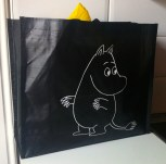 Our shopping bag featuring Moomin